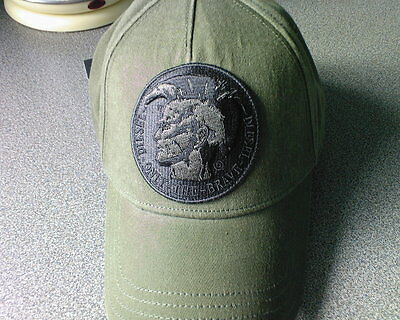 "Mens New Diesel ""only The Brave"" Baseball Cap/ Hat Army Green One Size!!!"