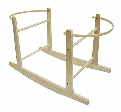 Cuddles Collection Rocking Moses Basket Stand  Natural