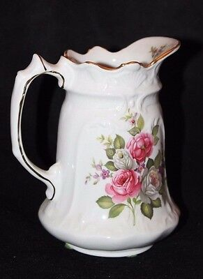 Old Foley James Kent LTD Staffordshire Harmony Rose Mini Small Pitcher Vintage