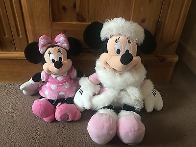 """Minnie Mouse Original from Disney store big soft plush toy doll """"18 / """"12 inches"""