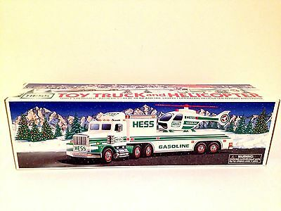HESS TRUCK - 1995 Toy Truck and Helicopter - MINT IN BOX