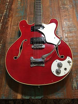 "Vintage Mosrite Celebrity 1966 Trans Cherry Red ""All Original"""