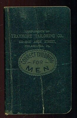 1915 Correct Tailoring for Men Memo Book - Traymore Tailoring Co. Phila.,PA
