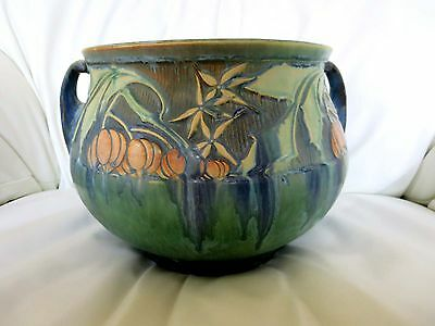 "Roseville Pottery Baneda 8"" Jardiniere top in green #628-8"""
