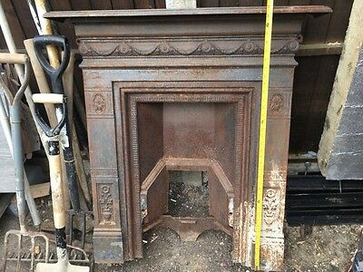 Small Victorian Cast Iron Fireplace Surround And Insert All In One