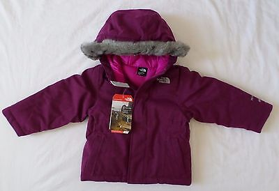 New The North Face Kids Toddler Girls Greenland Down Fur Hooded Jacket 3T