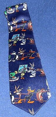 Looney Tunes  Stampt Collection Polyester Tie Bugs Bunny Tweety Daffy Duck