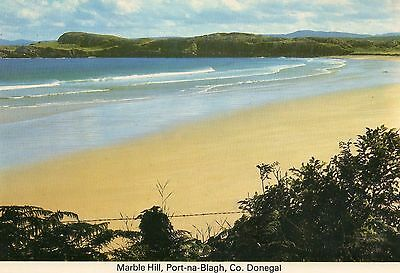 IRELAND Postcard Marble Hill Port-na-Blagh County Donegal Beach Kerry Blue Stamp