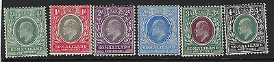 SOMALILAND PROTECTORATE : 1904 1/2a-4a 4a SG 32-7 mint