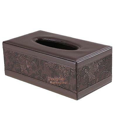 Vintage Car Home Rectangle PU Leather Tissue Box Cover Napkin Paper Holder Case