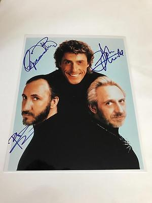 "Signed 10"" x 8"" Photograph The Who Daltry Townshend Entwhistle"
