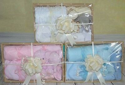 baby gift basket/hamper available in neutral, pink or blue