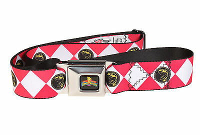 Power Rangers Logo Ranger Diamonds Adult Seatbelt Belt-Holds Pants Up