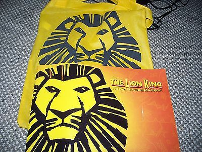 2010 Lion King Programme Plus Bag