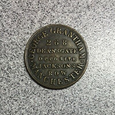Manchester England George Grantham Token Coffee, Tea & General Grocery