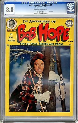 Adventures of Bob Hope #1 CGC 8.0 off-white to white pages