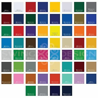 Oracal 651 Glossy Vinyl Sheets 12 Inch x 12 Inch - 62 Assorted Colors Available