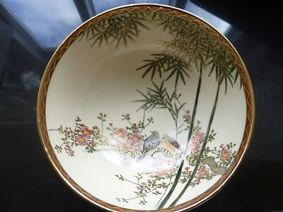 Antique Satsuma Pottery Japanese hand painted bowl - listing one of three