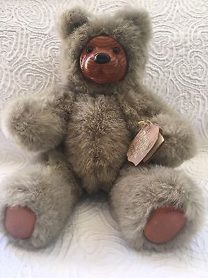 Robert Raikes SIGNED 1989 Bear With tag, Jointed Limbs.