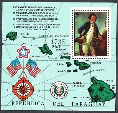 Paraguay Bicentenary of Captain James Cook's Death MS SC#C464