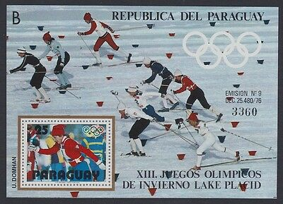 Paraguay Winter Olympic Games Lake Placid MS SC#1902