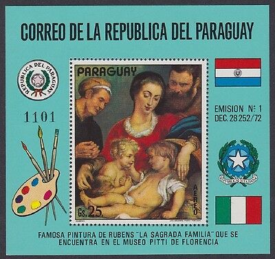 Paraguay 'The Holy Family' by Rubens MS SC#C354