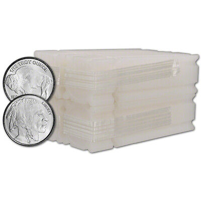 200-pc. Silver 1/10 oz. Round - Buffalo Design - Four Rolls of FIFTY (50)