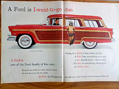 1956 Ford Country Squire Wagon Ad  A 1956 Ballantine Ale Ad That's Ale Brother