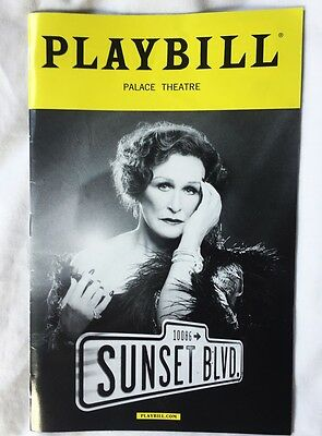 Glenn Close Sunset Boulevard Playbill 2017 Broadway
