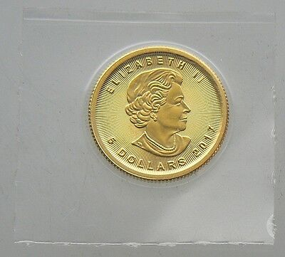 2017 $5 CANADA MAPLE 1/10 OZ GOLD COIN .9999 PURE Sealed