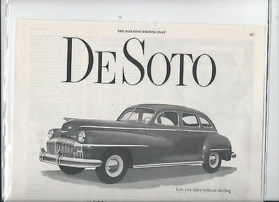 1947 DeSoto The Best  Car I Ever Owned Regardless of Price ad