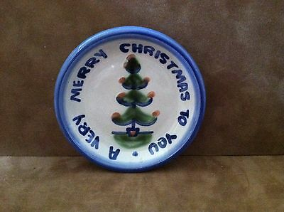 "M.A. HADLEY ~ ""A VERY MERRY CHRISTMAS TO YOU"" Coaster ~ Hand Painted & Signed"
