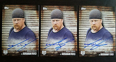 2017 Topps The Walking Dead Season 6 Michael Cudlitz Abraham Ford Autograph Auto