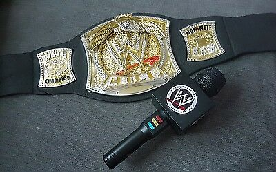 2005 Wwe Spinner Heavyweight Championship Belt & Wwe Talking Microphone Johncena