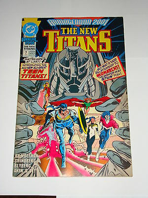 The New Titans Annual #7: Armageddon 2001 - Dc Comics 1991 - Nightwing