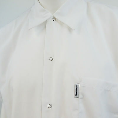 New Chef Works XXL White Utility Cooks Short Sleeve Shirt M352