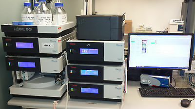 Thermo Dionex Ultimate 3000 HPLC System w/ Diode Array & Fluorescence Detectors
