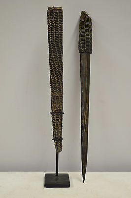 Papua New Guinea Ceremonial Wood Pay back Dagger Latmul Tribe