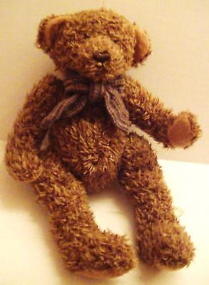 """Large 18"""" Tall, """"The Bearington Collection"""" Brown Teddy Bear with Fabric Bow"""