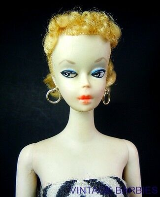 ** VERY RARE 1959 Blond #1 Ponytail Barbie Doll Excellent - Vintage **
