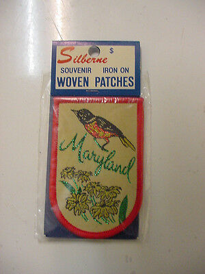 30 SOUVENIR TRAVEL PATCH - STATE OF MARYLAND  iron on patch -new