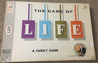 The Game of Life - Milton Bradley 1960 Board Game Vintage Complete