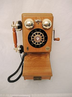 """Vintage  Crank Style """"spirit Of St Louis""""  Pushbutton  Wall Phone - Working"""