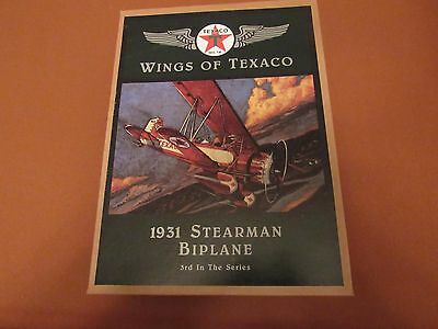 1931 Stearman Bi-Plane Wings of Texaco 3rd Ertl Diecast Bank NEW