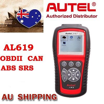 From AU Autel Autolink AL619 Scanner SRS CAN ABS Airbag OBD2 Fault Code Reader