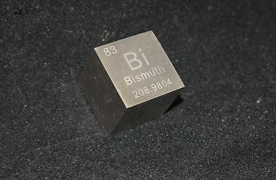 1 PC 99.99% 9.73 grams 4N Bi Bismuth Cube Carved Element Periodic Table 10mm