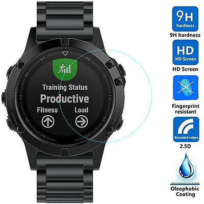 HD Tempered Glass Film Screen Protector Guard Shatterproof 9H for Garmin Fenix 5