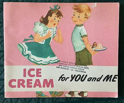 Ice Cream For You And Me 1950 Elementary School Ad Brochure Fn Cond Great Art!