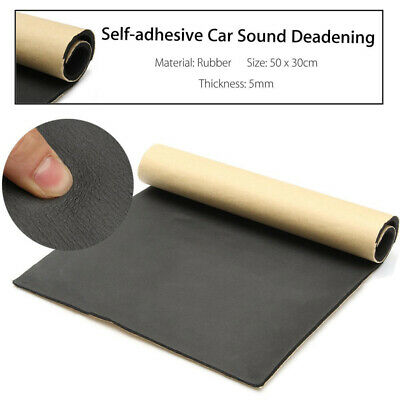30 x 50cm Car Auto Van Sound Proofing Deadening Insulation 5mm Closed Cell Foam