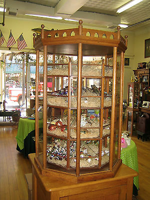 ANTIQUE 1880'S OAK CANDY CAROUSEL.  From Old Country Store Horse Creek, WI. RARE
